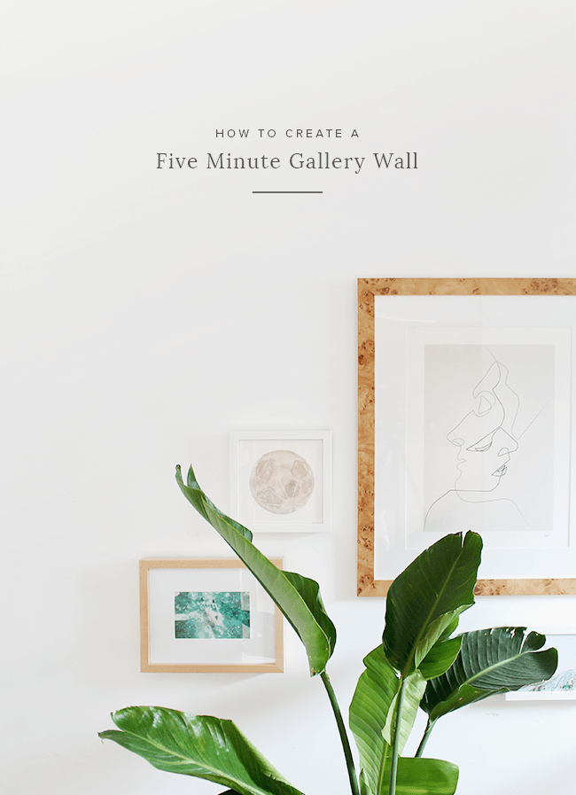 how to create a five minute gallery wall | almost makes perfect