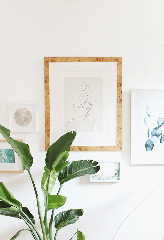 how to create a no fuss gallery wall in minutes | almost makes perfect