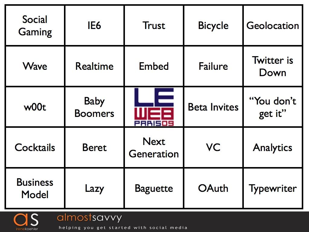 LeWeb bingo.001 - LeWeb Bingo! Watch and Play Along!