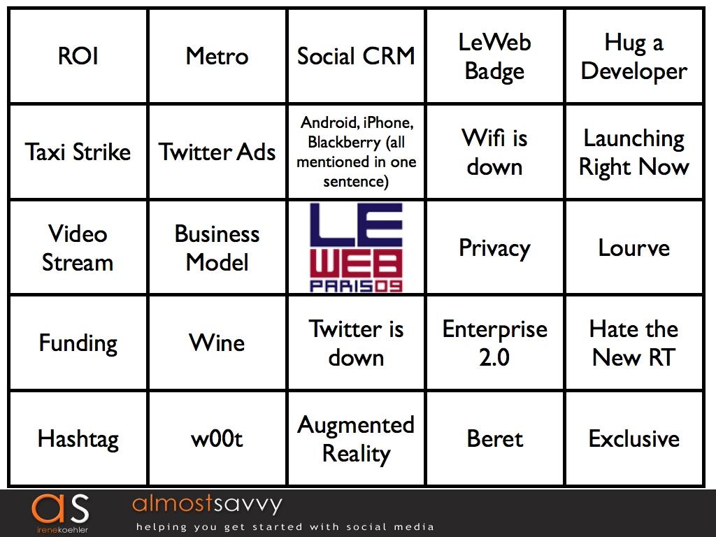 LeWeb bingo1.001 - LeWeb Bingo! Watch and Play Along!