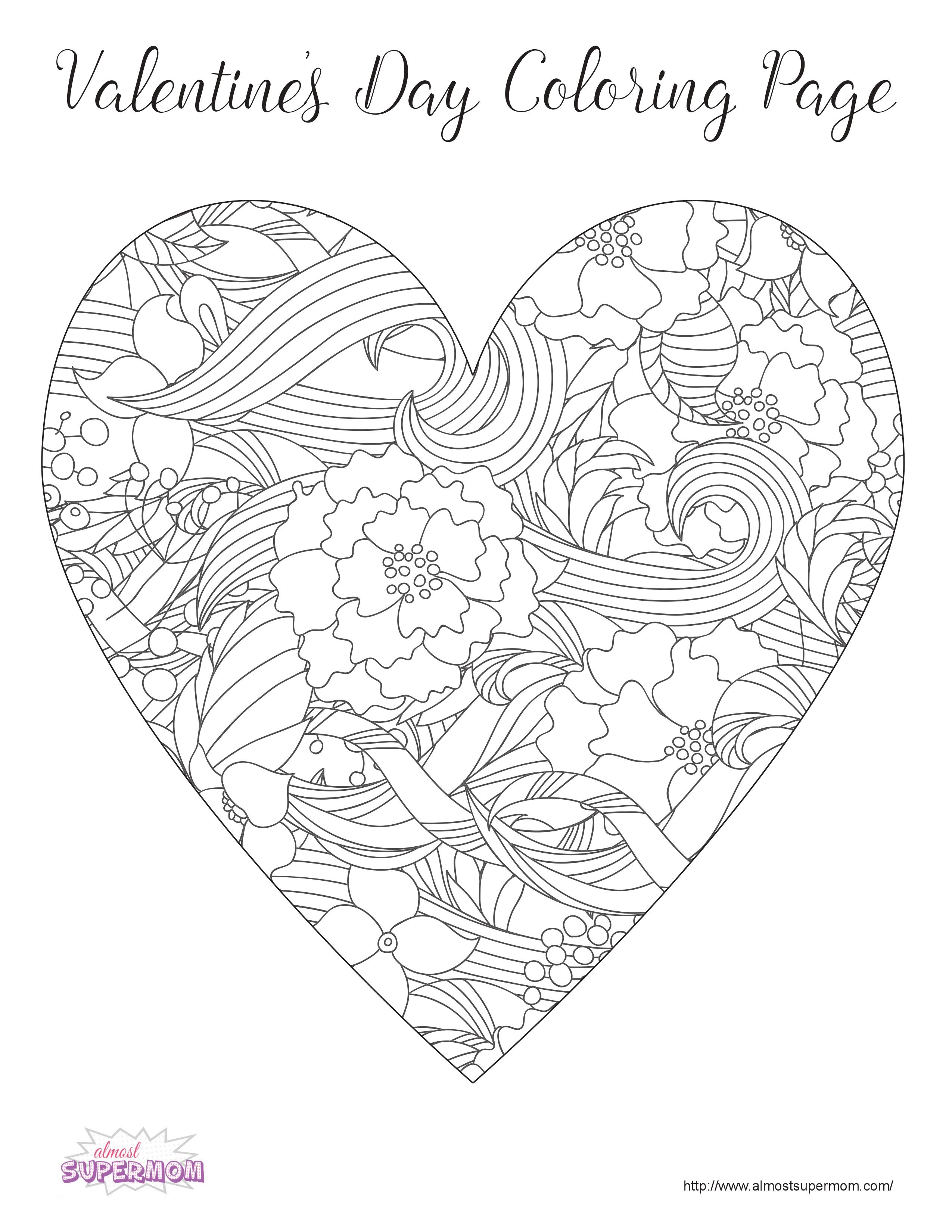 Free Valentine S Day Coloring Pages For Grown Ups