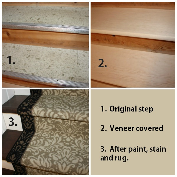 Perhaps With Many Coats Of Poly, But We Chose Not To Roll Those Dice, So  Protect It With A Rug Runner To Be Safe. Basement Stairs Collage