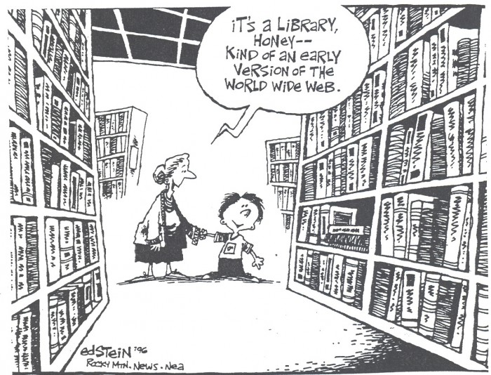 a kid doesn't recognize a traditional library
