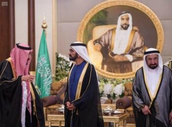 الملك يشرف مأدبة العشاء في الامارات2