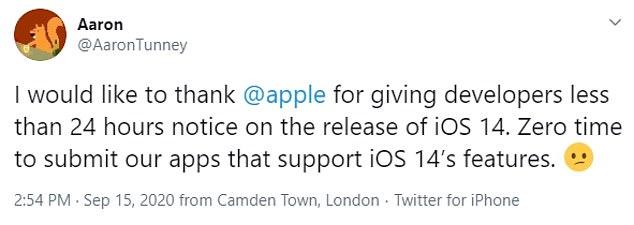 iOS 14 يثير حنق المطورين بعد ساعات من إطلاقه[2)