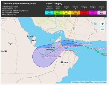 المسند يتوقع تحركات الإعصار شاهين: سيلفظ أنفاسه في الربع الخالي - المواطن
