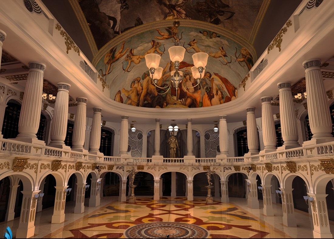 نتيجة بحث الصور عن قصر البرلمان الروماني من داخل
