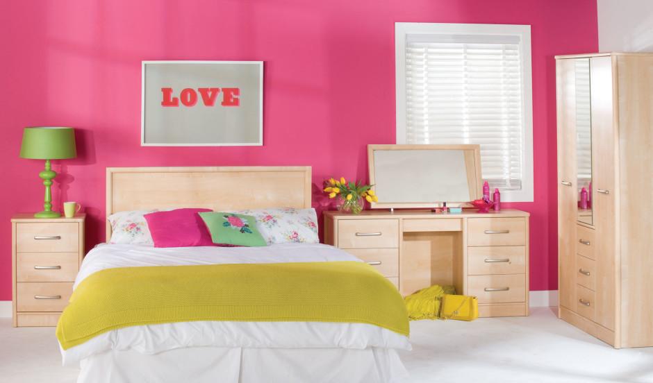 تصميم غرفة نوم باللون البينك المرسال