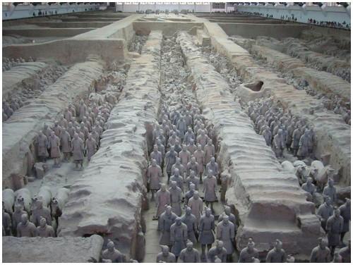 ضريح الأمبراطور كين من الطين