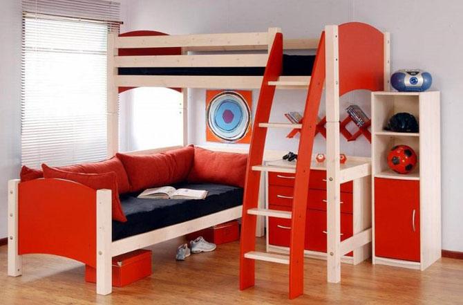 غرف نوم اطفال صغيرة المساحة المرسال