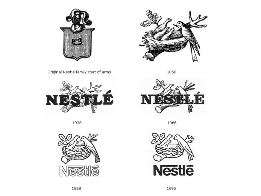 مراحل تطور شعار نستلة Nestle