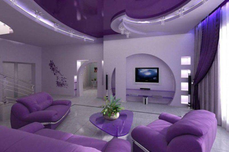 ديكور منزلك باللون البنفسجي المريح المرسال