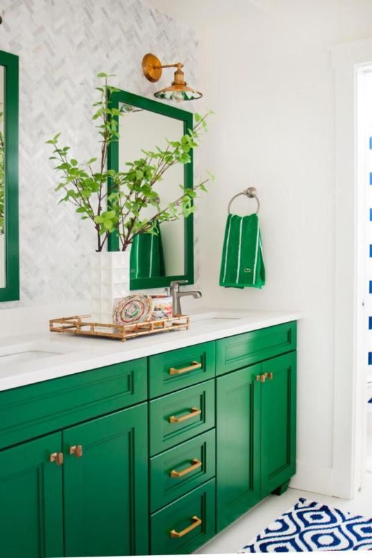 Green walls with neutral