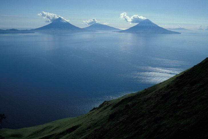 large volcanic islands