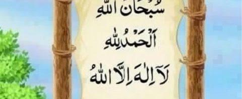 حديث عن فضل قول سبحان الله والحمد لله ولا إله إلا الله والله