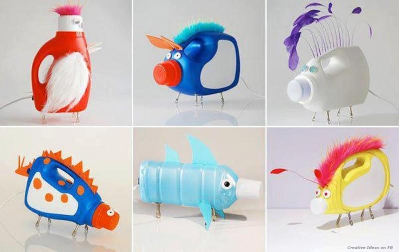 اعمال فنية من اعادة تدوير البلاستيك المرسال