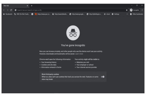 وضع التصفح المتخفي Google Chrome