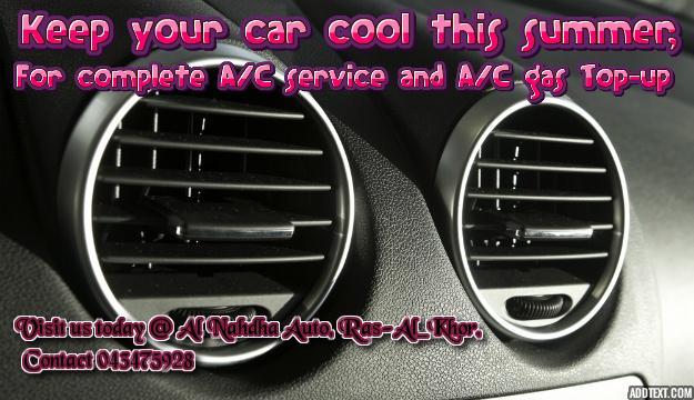 Air Conditioning Service - AL NAHDHA AUTO GARAGE
