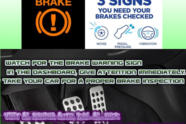 Watch signs for brake service in your car