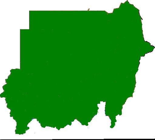 خريطة السودان الاخضر