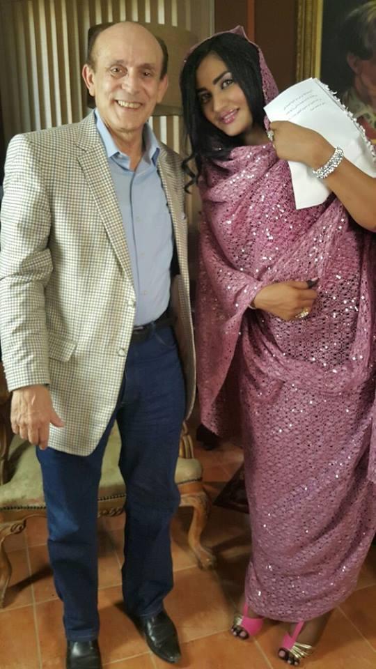 تسابيح مبارك مع الممثل محمد صبحي