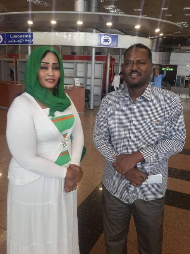 فاطمة الصادق مع بعثة الهلال في القاهرة