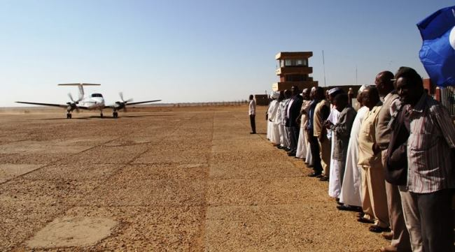 الكاردينال يصل عطبرة بطائرة خاصة.. ويلتقي السيسي ومسار