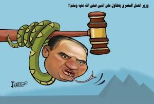 وزير العدل المصري يتطاول على الرسول ﷺ !