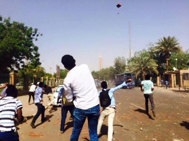 مظاهرات جامعة الخرطوم