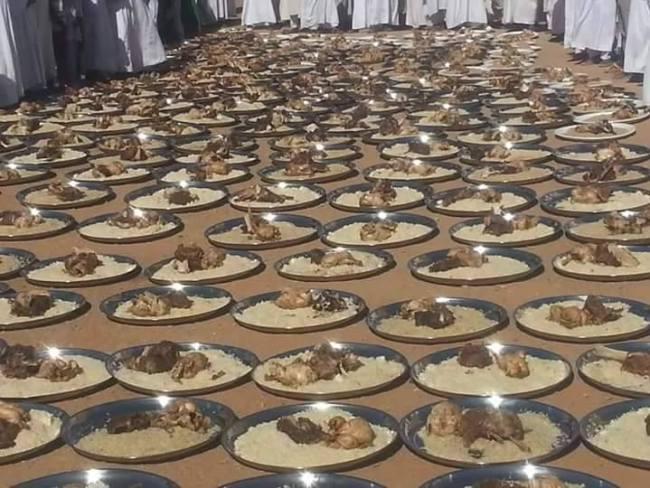 أبناء الشيخ الكباشي يجهزون اكبر مأدبة طعام للداعية الإسلامي الجفري