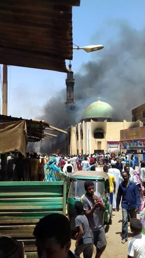 انفجار تانكر الغاز بامدرمان - سوق الشجرة - ابوروف