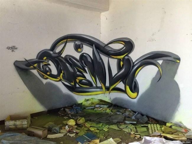 فنان يشعل مواقع التواصل بجرافيتي ثلاثي الأبعاد1