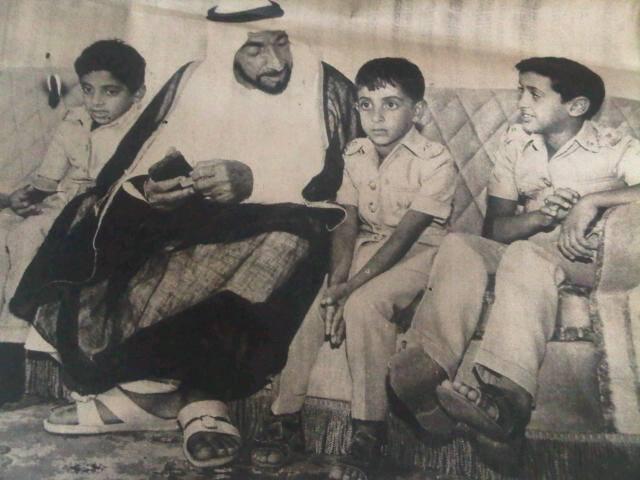 صور نادرة لقادة الإمارات2