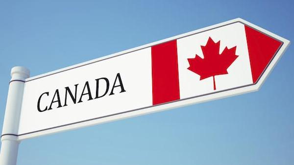Canada Flag Sign isolated on sky