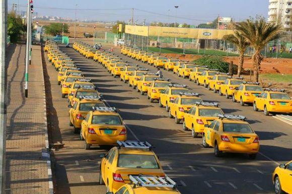 تدشين تاكسي العاصمة السودانية (الخرطوم) الحديث  يناير 2015