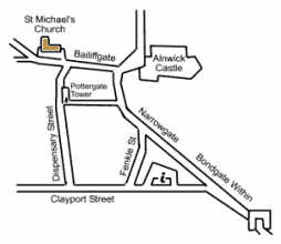 Map showing location of St Michael's