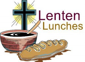 Graphic stating 'Lenten lunches'