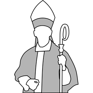 Line art of a bishop