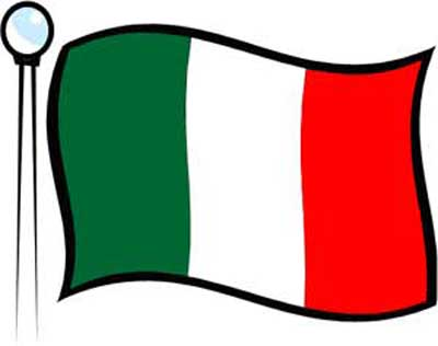 Clipart image showing the Italian flag