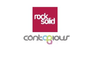 The logos of Rock Solid and Contagious
