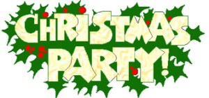 The words 'Christmas Party'