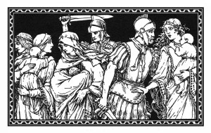Woodcut depicting the slaughter of the innocents
