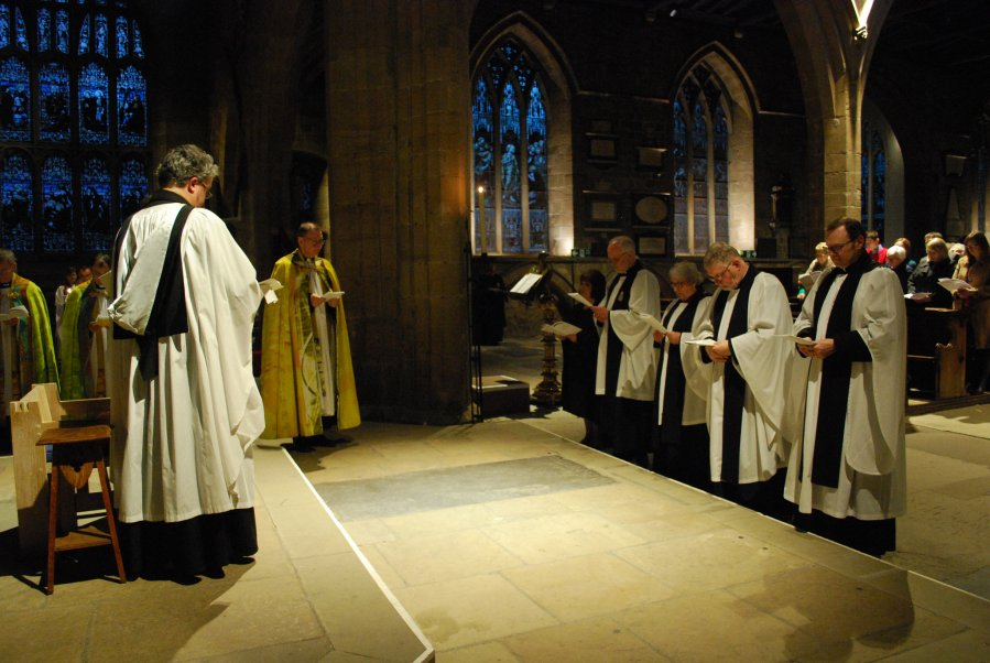 Rev'd Paul with the other new Canons of Newcastle Cathedral