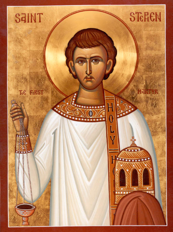 An Orthodox icon representing St Stephen