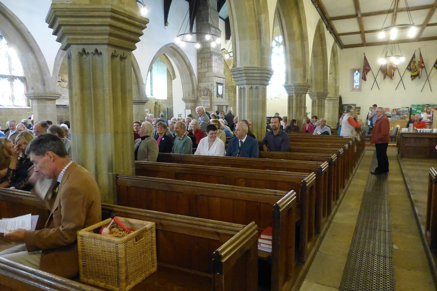 A photograph of the congregation