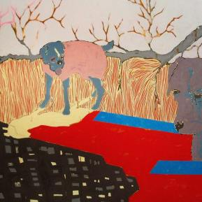 38Untitled-with-dogs-Acrylic-on-Canvas-190.5-x-129.7-cm-2006