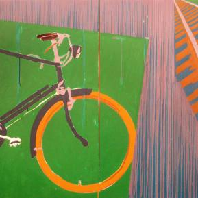 44Raleigh-Bicycle-Acrylic-on-Canvas-120-x-160-cm-2006