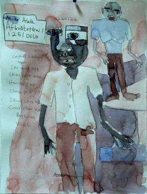Telephone-Conversation-Water-Color-on-Paper