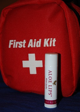 Forever Aloe Lips and first aid kit
