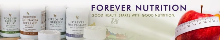 forever living products nutrition banner english